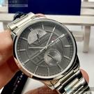 Tommy Hilfiger湯米希爾費格男錶44mm灰色錶面銀色錶帶