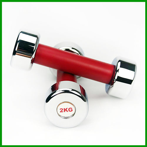 台灣製2KG電鍍啞鈴(二支價)(4.4磅啞鈴.2kg啞鈴.2公斤啞鈴.二公斤啞鈴)