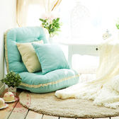 折疊懶人沙發 日式單人創意功能榻榻米 客廳臥室飄窗電腦蕾絲沙發