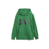 Gap男童棉質舒適徽標套頭連帽衫554446-棕櫚葉色