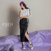 現貨◆PUFII-套裝 側邊條上衣+長裙套裝-0620 夏【CP16919】