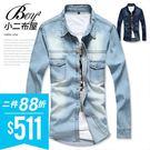●小二布屋BOY2【NZ77806】。 ●質感舒適,休閒襯衫。 ●2色 現+預。