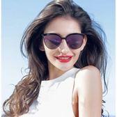 現貨-韓版ulzzang時尚百搭新款彩膜太陽鏡海瑟薇同款復古墨鏡潮流圓框太陽眼鏡 250