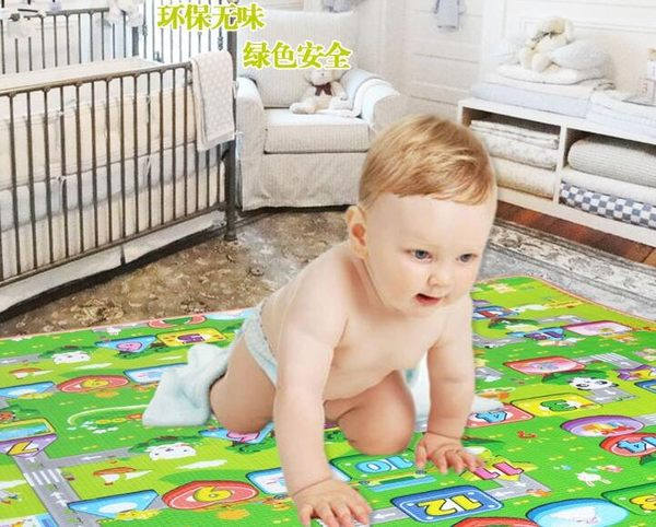 2m*1.8m*3cm 婴儿童宝宝爬行垫双面加厚2CM3CM环保爬爬垫爬行泡沫地垫游戏毯 - 炫彩腳ㄚ折扣店-