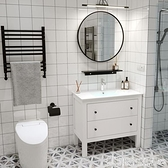 北歐浴室櫃衛浴洗面盆洗臉洗手盆櫃組合衛生間洗漱台洗手台落地式 安雅家居
