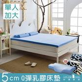 House Door 大和抗菌表布 5cm乳膠床墊全配組-單大3.5尺天空藍