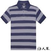 【男人幫】P0196*新品‧韓版條紋領接【經典條紋短袖POLO衫】輕夏涼悠