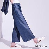 【追加】MOMA 天絲牛仔打褶寬褲_2色