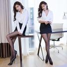 洋裝 情趣內衣性感透視包臀緊身短裙OL白...
