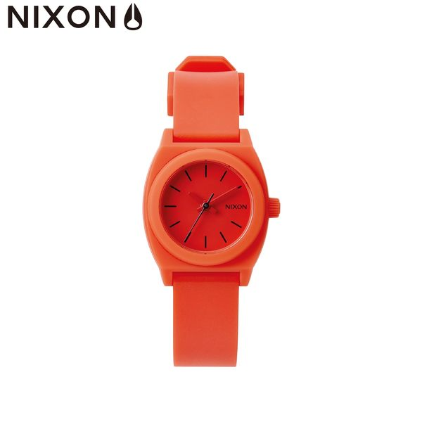 NIXON手錶 原廠總代理 A425-383 Small Time Teller P 橘色 潮流時尚膠錶帶 男女適用 運動 生日 情人節禮物