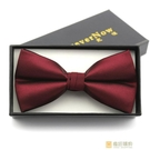 純色蝴蝶領結伴郎酒紅色領結男結婚新郎婚禮男式黑色 快速出貨