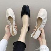 平底單鞋女春季新款奶奶鞋網紅軟底孕婦鞋蛋捲豆豆鞋春款潮鞋【618特惠】