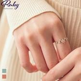 戒指 RCha。韓‧方塊水鑽流線戒指-Ruby s 露比午茶