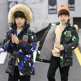 中長款秋冬男寶寶棉衣 中大童韓版外套 兒童加絨加厚潮流夾克外套 羽絨外套男孩7Plus