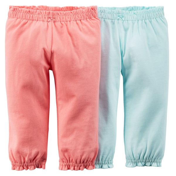 【美國Carter's】純棉長褲2件組-粉嫩系列 121D551