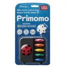 日本 Primomo 6色 花瓣造型無毒蠟筆 (附橡皮擦)