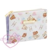 ♥小花花日本精品♥Rilakkuma拉拉熊懶懶熊輕鬆熊面紙口罩收納包零錢包收納小物包 42222408