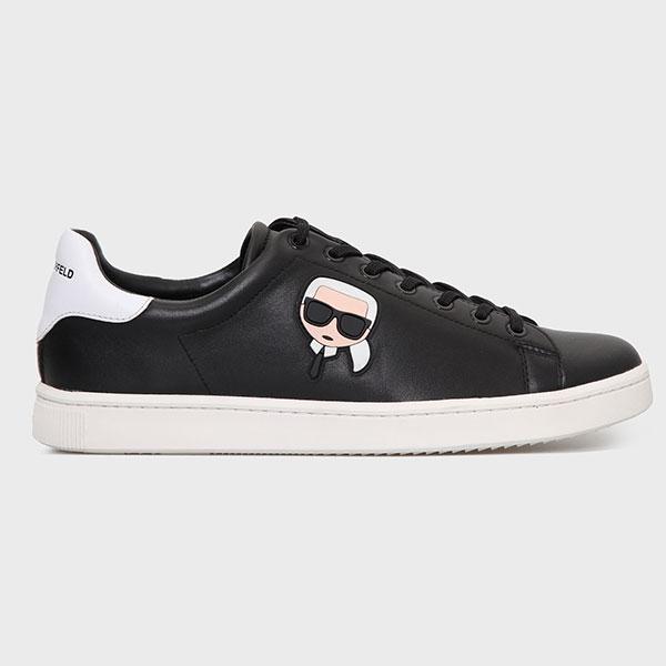 Karl Lagerfeld 卡爾 老佛爺 福利鞋 KOURT Q版綁帶休閒男鞋-黑