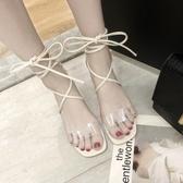 2019夏季新款綁定涼鞋女仙女風性感百搭時尚潮中跟鞋女氣質女涼鞋【持續上新】