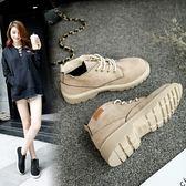【魔法QQ】短靴 韓版羅馬風英倫復古磨砂平底馬丁靴【Q28】預購