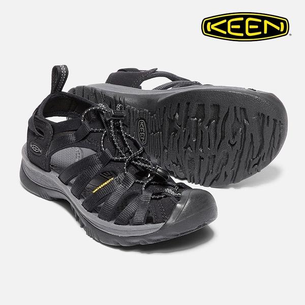 KEEN 女款 織帶涼鞋Whisper 1018227 / 城市綠洲 (水陸兩用、輕量、戶外休閒鞋、運動涼鞋)
