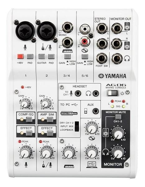 唐尼樂器︵ YAMAHA AG06 USB Mixer 混音器 音訊/錄音介面 內建 LOOP 功能 直播必用設備