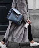 ■現貨在台■專櫃63折■ 2019 全新真品Chloe Faye麂皮掀蓋平滑小牛皮包 Silver Blue