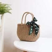 草編包 草編包手提復古度假編織包ins森繫海邊度假迷你沙灘包氣質小包女 裝飾界
