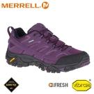 【MERRELL 美國 女 MOAB 2 GORE-TEX登山健行鞋《黑莓》】ML034828/多功能鞋/健行鞋/登山