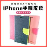 馬卡龍皮套雙色 IPhone區手機保護殼【A103】掀蓋站立卡層 iPhone X/XS iPhone 8/8+