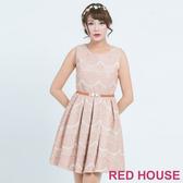 【RED HOUSE 蕾赫斯】波浪蕾絲無袖洋裝(共2色)