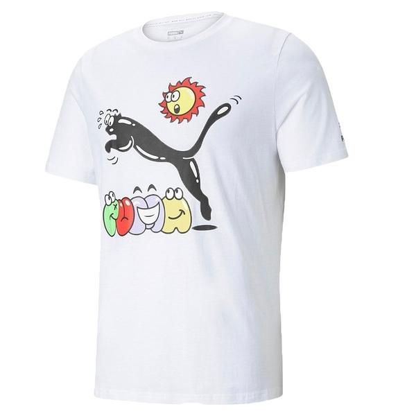 【現貨】PUMA Summer Streetwear 男裝 短袖 休閒 街頭 白 歐規【運動世界】53255302
