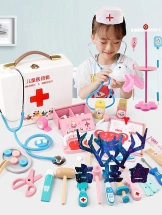 仿真小醫生玩具套裝木制醫療箱打針護士兒童過家家聽診器【古怪舍】
