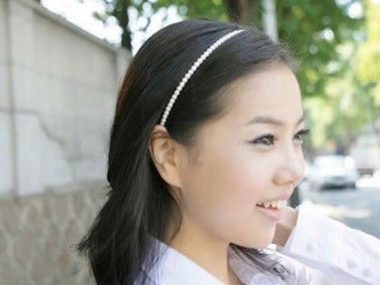 [協貿國際] 甜美珍珠髮箍頭箍多位明星佩帶 (10個價)