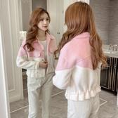 短版外套 2019秋冬新款韓版個性撞色設計感時尚抽繩保暖短款洋氣外套女