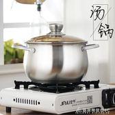 湯鍋 湯鍋不銹鋼家用加厚復底鍋具火鍋電磁爐燃氣通用二層蒸鍋 酷斯特數位3c YXS
