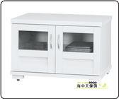 {{ 海中天休閒傢俱廣場 }} F-08 摩登時尚 客廳系列 272-7 羅蜜歐白色2.5尺電視櫃