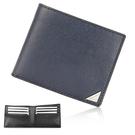 Calvin Klein經典LOGO鐵牌RFID防盜多卡短夾(深藍色)103093-2