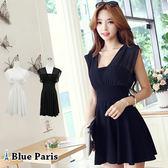 藍色巴黎 ★ 韓版 性感氣質雪紡連身裙 洋裝 《黑 / 白》【27100】
