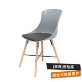 特力屋萊特塑鋼椅-座墊PU黑