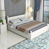 床實木雙人1.8米1.5成人單人1.2m出租房簡易經濟型現代簡歐白色床WY七夕情人節
