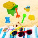 【我們網路購物商城】沙灘玩具6件組 玩沙戲水玩具寶寶沙灘桶套裝組合 兒童鏟子沙漏沙灘玩具