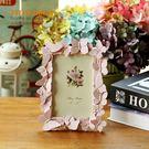 粉色蝴蝶飛揚樹脂藝術相框擺件生日禮物裝飾...