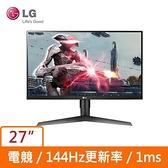LG 27型 27GL650F-B (寬)螢幕顯示器