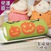 糖果貓烘焙 萬聖抹茶紅豆蛋糕捲(420g/條,共兩條)【免運直出】