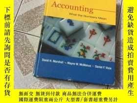 二手書博民逛書店Accounting:What罕見The Numbers Mea