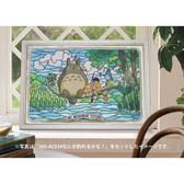 【拼圖總動員 PUZZLE STORY】300片白色龍貓雕刻框 日系/Ensky/塑膠框/26*38cm