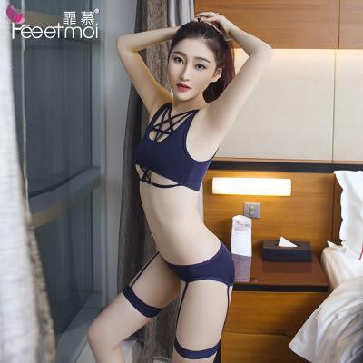 【預購】視覺刺激吊帶襪三點式誘惑套裝 情趣內衣 情人節 F89219