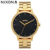 NIXON 手錶 原廠總代理 A099-2042 Kensington 黑金色 潮流時尚鋼錶帶 男女適用 運動 生日 情人節禮物