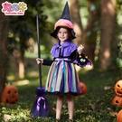 萬聖節服裝 萬圣節兒童服裝幼兒園女童cosplay巫婆裙兒童化裝舞會狂歡演出服 雙十一全館免運
